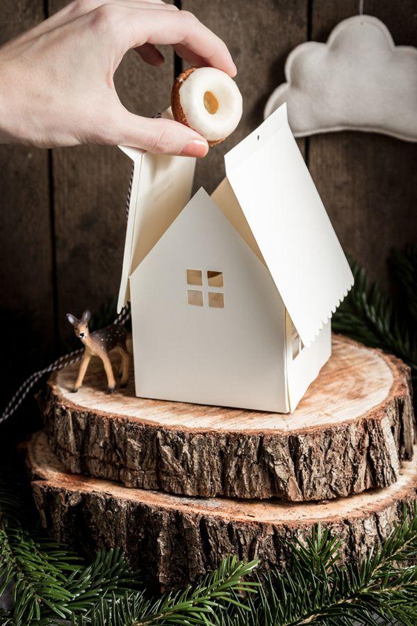 Geschenkbox zum Ausdrucken ☆ Free printable for gingerbread house container