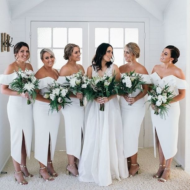 White Bridesmaids Dresses Cheap Bridesmaid Dresses Summer Bridesmaid Dresses Chic Bridesmaid Dresses