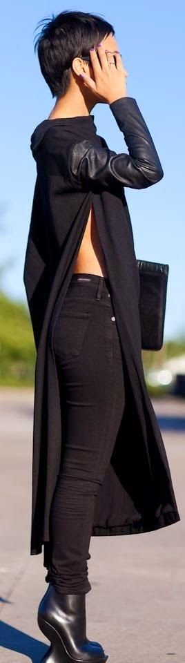 All Black street style fashion