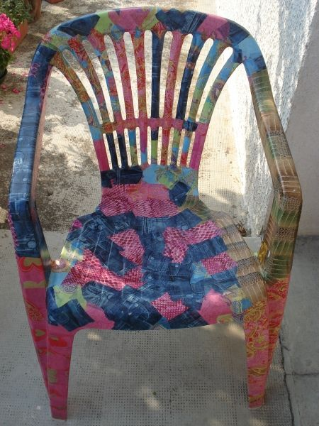 Decopatch garden chair.