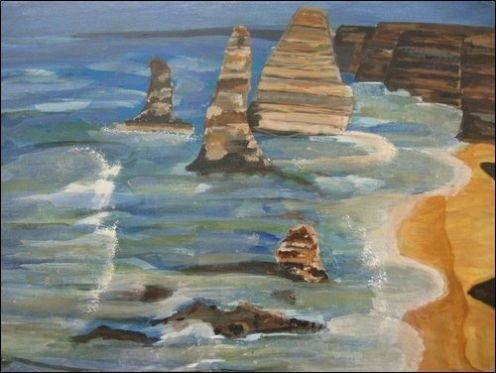 Paintings from Caroline an unknown Dublin based artist. Learn to paint at your local art classes and become a famous painter such as Vincent van Gogh and Monet.