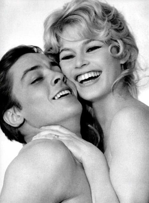 Alain Delon and Brigitte Bardot. ☀