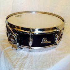 Gretsch Round Badge 4x14 snare.  60s Black wrap