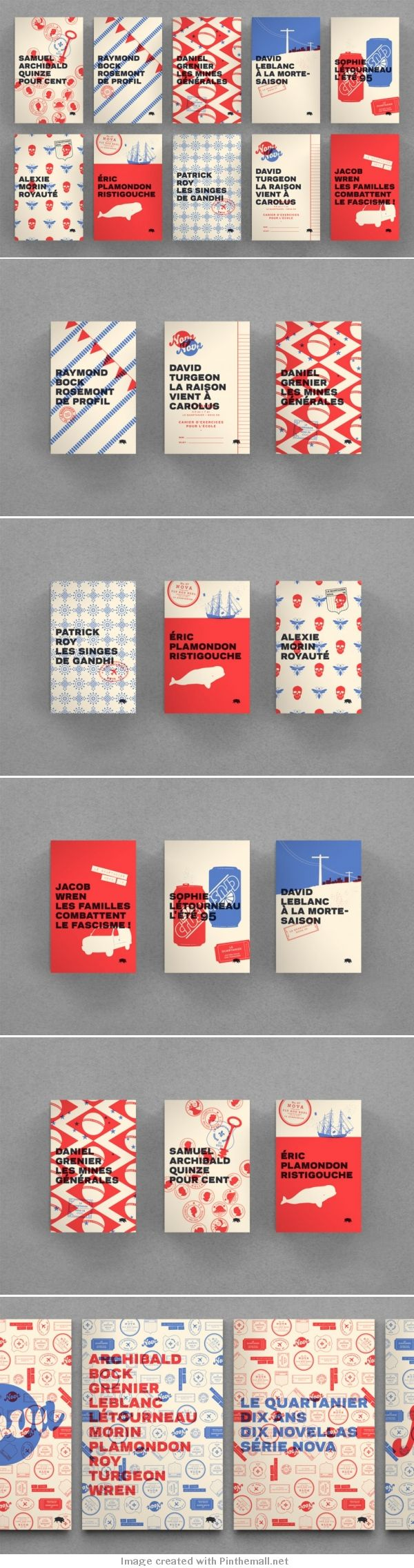 Le Quartanier - couvertures en bichromie - collectif Pointbarre (Canada)