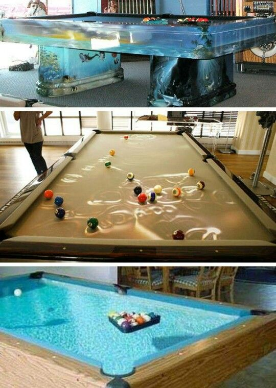 pool table fish tanks