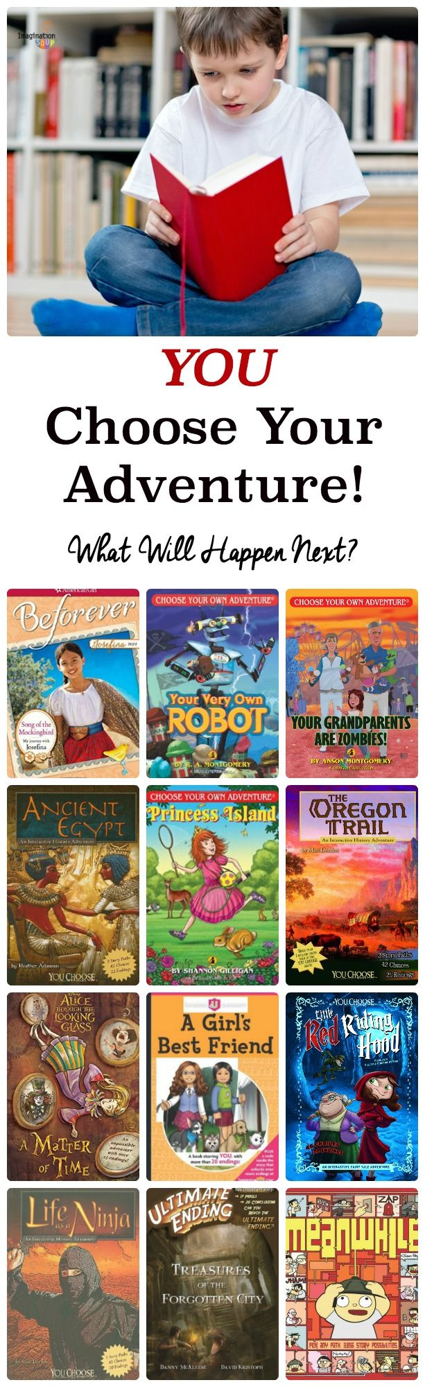 the best choose-your-own adventure books that will get kids READING! (Great pick for reluctant readers.)