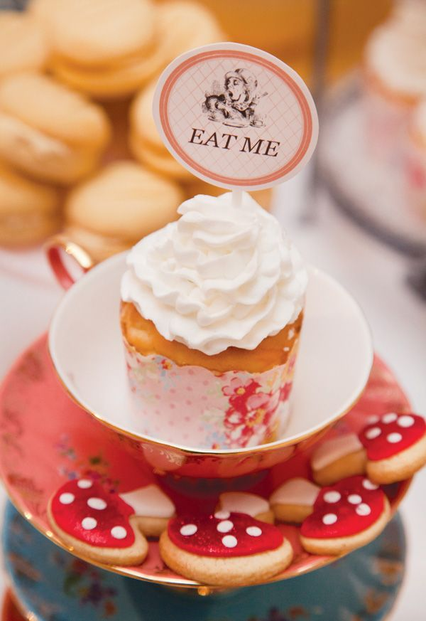 """I like the idea of adding """"Eat Me' labels to each item of food. An intriguing and delightful touch to wedding canopes..."""