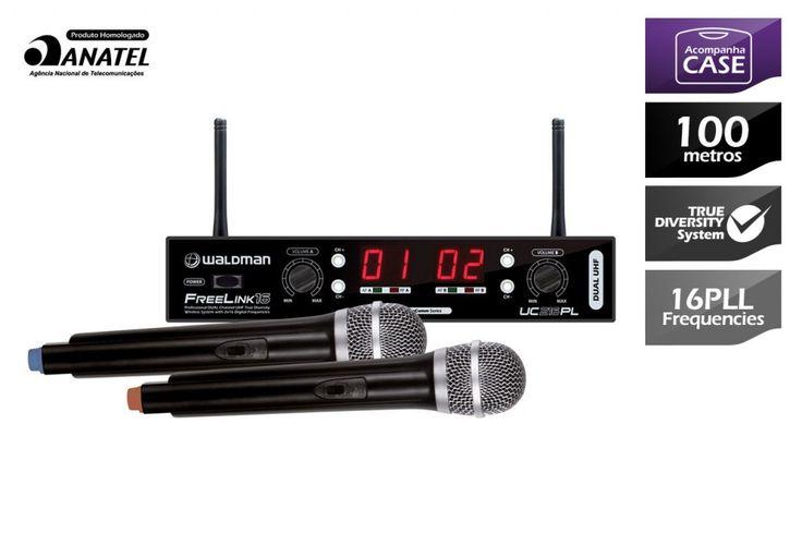 Waldman - Microfone Wireless FreeLink 16 UC216PL