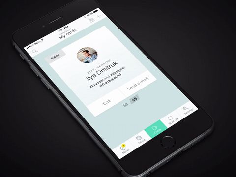 Users can quickly scan and swipe cards. Image credit: Behance