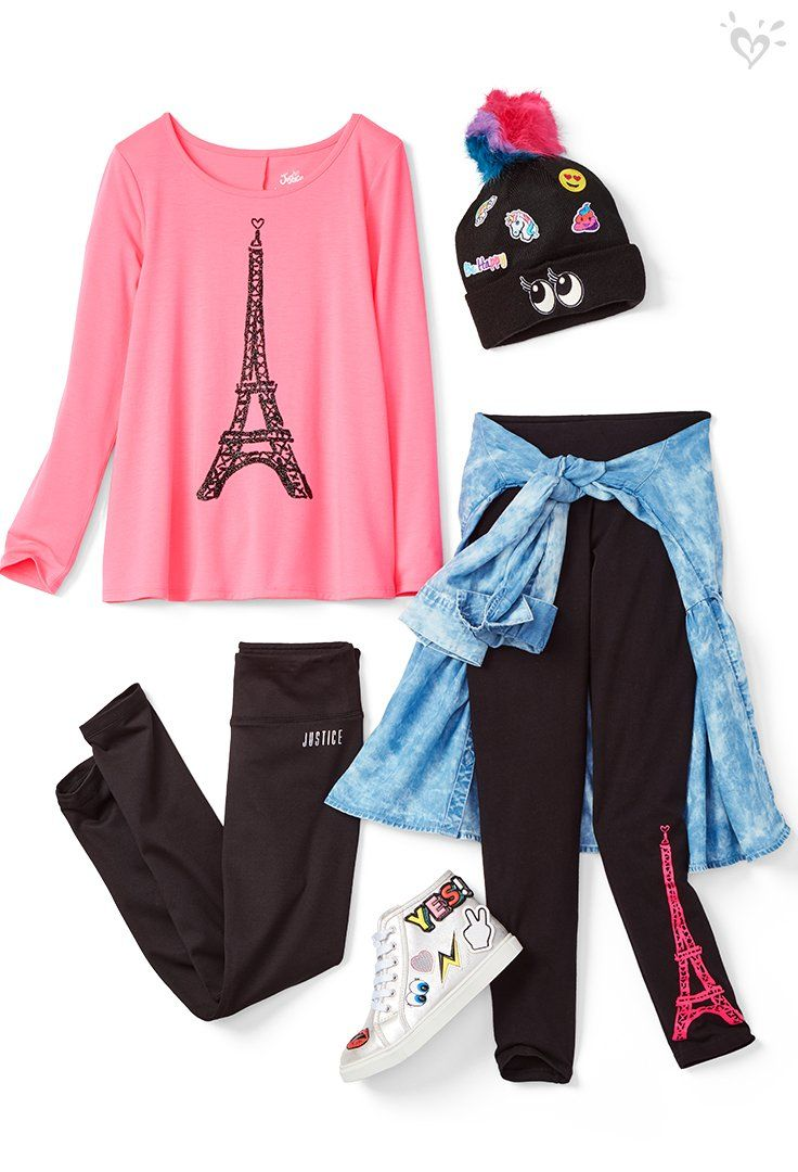 Oui Paris And Made To Patch Details Tween Outfits Justice Clothing Outfits Justice Clothing