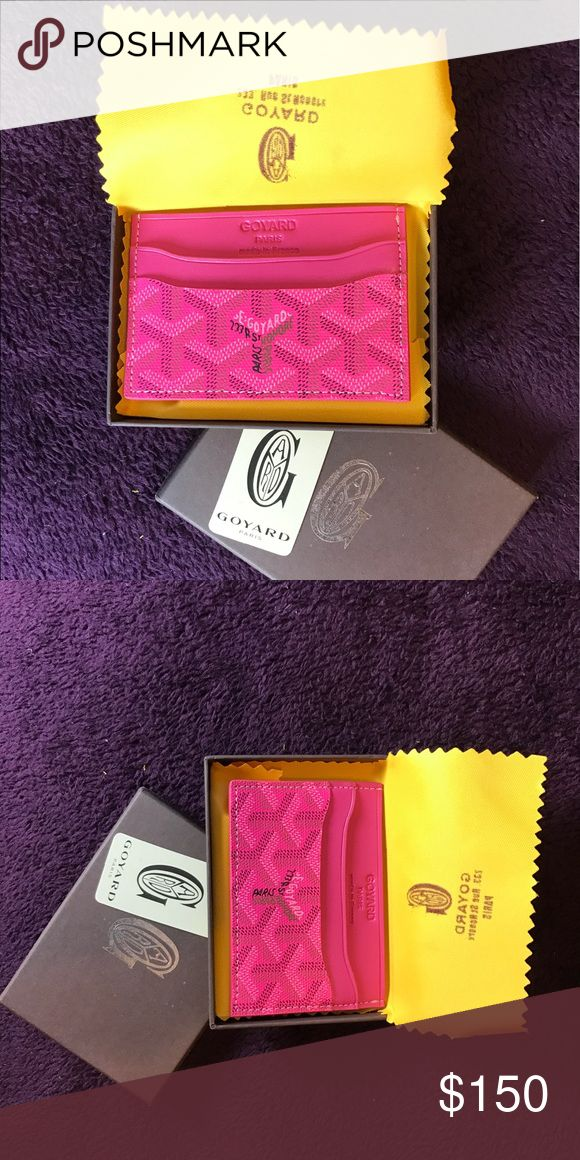 Hot pink Goyard card holder for sell Brand new custom with box and comes with goyard card holders Goyard Accessories Key & Card Holders