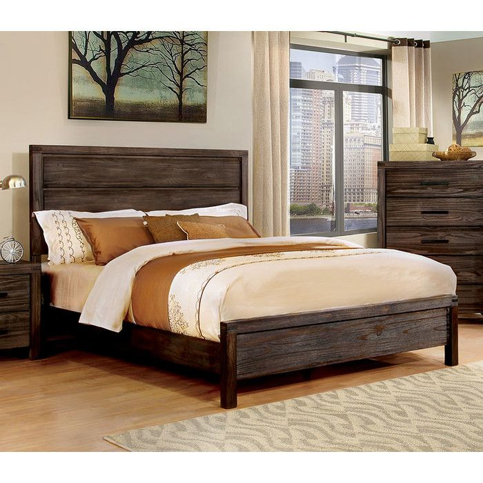 Give Your Bedroom A Rustic Chic Look With The Warmth Of This Solid Wood Bed.