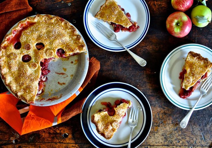 Sour Cherry Apple Pie with Cheddar Cheese Crust