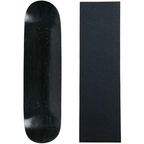Blank Skateboard Deck - Stained Black - 8.5' Black Grip