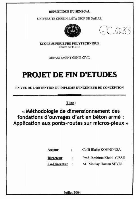 Pfe Dimensionnement Des Fondations D 8217 Ouvrages D 8217 Art En Beton Arme Genies Words How To Plan