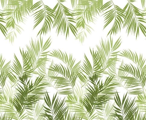 Jungle Leaves Wall Panel A large palm leaf design in shades of green. The design is repeatable. If you wish to hang it on a larger wall just...