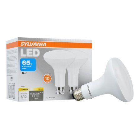 Sylvania LED Light Bulbs, 65W Equivalent, BR30, Soft White 2700K, 2 Pack