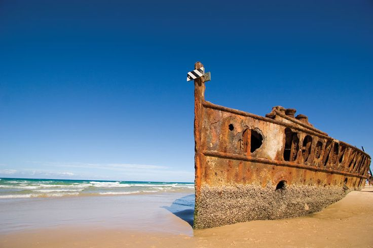 The SS Maheno on Fraser Island's 75-Mile Beach  #fraserisland #queensland #australia www.fraserisland.net