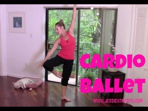 Barre 30 Minute Cardio Ballet Workout      Burn calories with the grace of a ballerina! Join certified fitness instructor Jessica Smith live from home for this fat-burning, easy to follow, ballet-inspired barefoot cardio session.