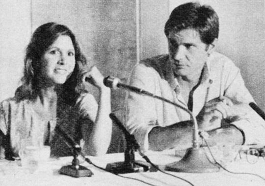 Carrie Fisher and Harrison Ford, Japan, 1978