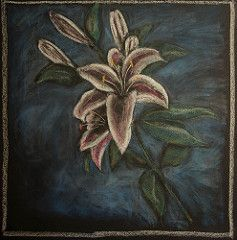 5th Grade: Botany; The Lily (ArneKaiser) Tags: 5thgrade autoimport edited mrkaisersclass pineforestschool thelily waldorf botany chalk chalkboard chalkdrawings waldorfjourney flickr