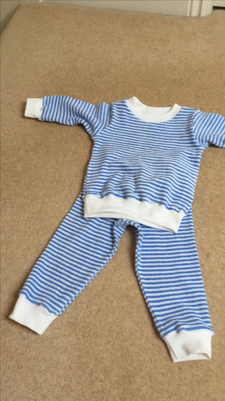 PJ's for my grandson, I made these same PJ's for my own son using the same fabric that I have carted around umpteen house moves, my son is now 32 and I had enough fabric left to make two pairs for my grandson who is 2.
