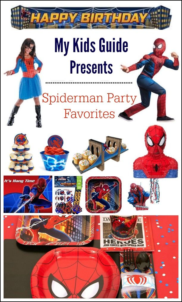 Webslinging Fun SpiderMan Party Supplies for Kids: If you have a little boy, chances are you're going to need some Spiderman party supplies at some point! Can you believe Spiderman has been a birthday party staple for almost forty years! It is true! Since the first film aired on television in the late seventies, he has been a character loved by all.