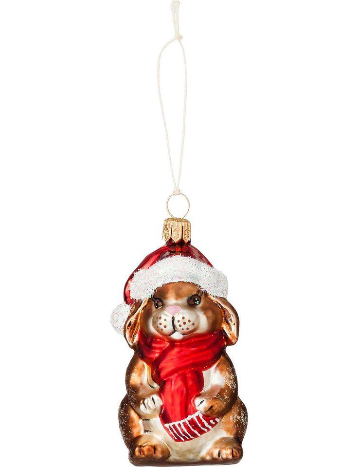Bunny Santa With Hat Ornament | David Jones