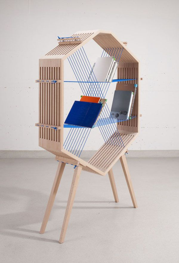 "THE WOOD COLLECTOR | New Shelving Units ""Explore"" String Theory"