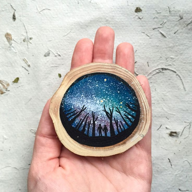 Mini paintings on recycled wood by Kimera Wachna http://designwrld.com/mini-paintings-on-recycled-wood-by-kimera-wachna/