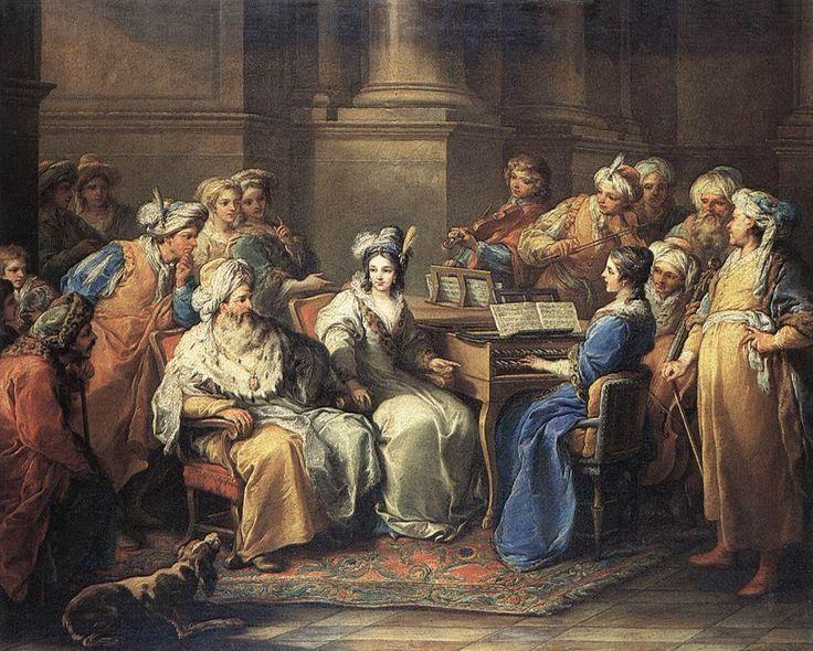 Carle van Loo - grand turk giving a concert Music in Paintings