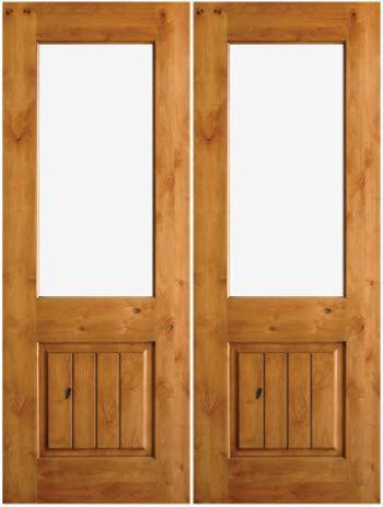simple and beautiful single panel doors uberdoors knotty alder solid wood interior doors