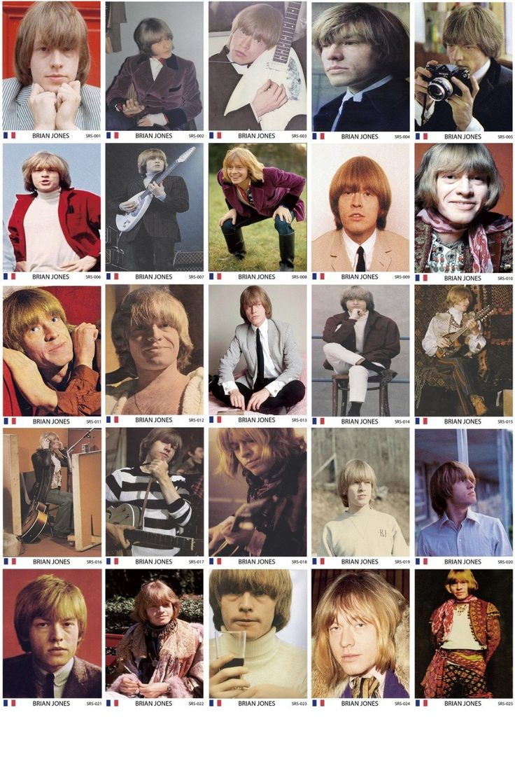Brian Jones - French card set