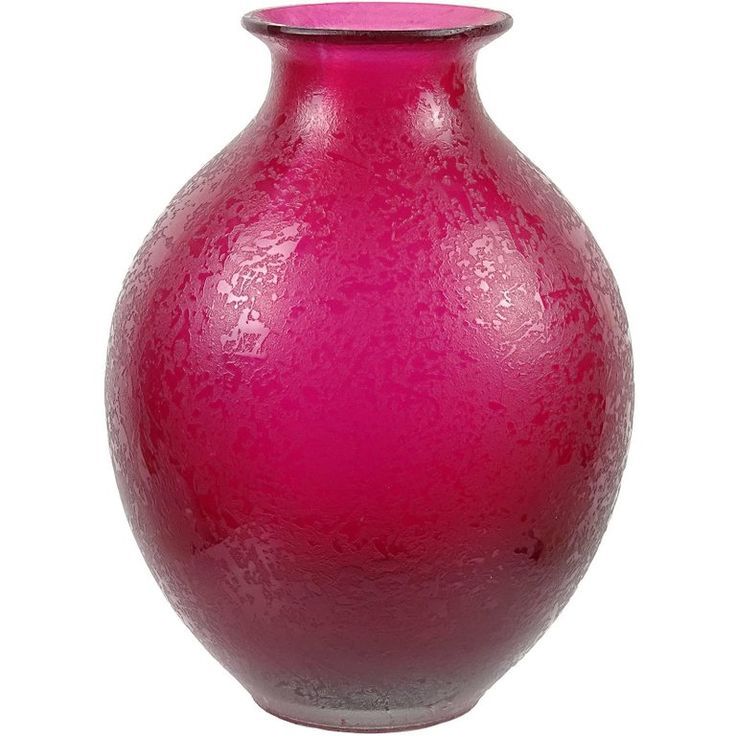 Flavio Poli Murano Fuchsia Red Corroso Surface Italian Art Glass Flower Vase | From a unique collection of antique and modern vases and vessels at https://www.1stdibs.com/furniture/decorative-objects/vases-vessels/