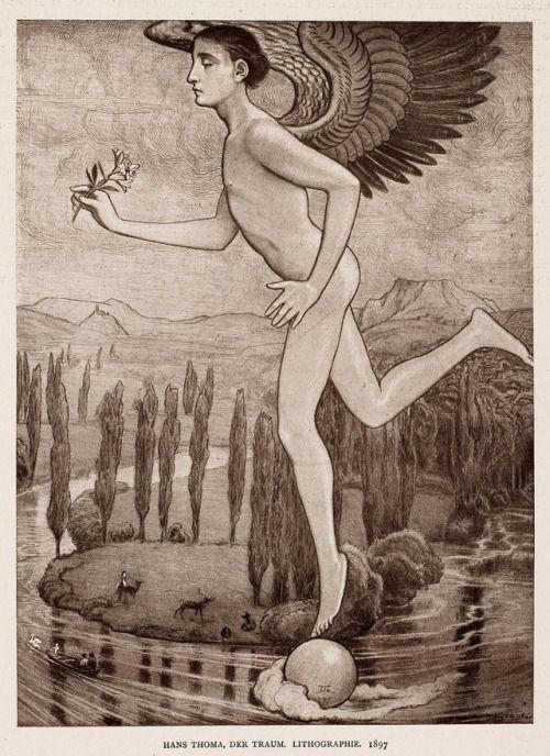 Hans Thoma- Der Traum, 1920