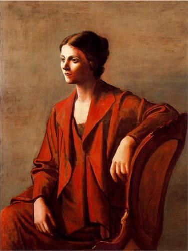 Olga - Pablo Picasso (1923) - this is the Pablo I love