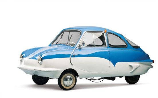 1959 King-S7 3-wheel Microcar with 197cc Single cylinder 2-Stroke Air-cooled Engine at 9.5Hp