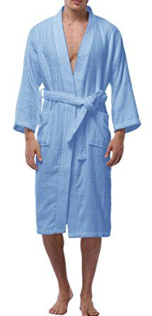 VOGMATE Men s Long 100% Turkish Cotton Kimono Robe Lightweight Terry Spa  Bathrobe With Pockets Review 7d031d5ce