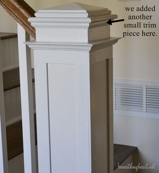Beautiful Interior Staircase Ideas And Newel Post Designs: How To Build A Newel Post