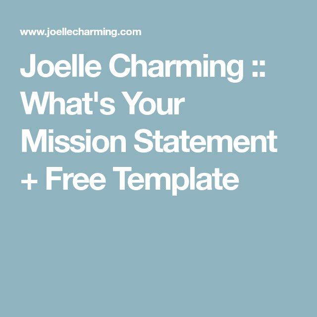 The 25+ best Mission statement template ideas on Pinterest - business statement template
