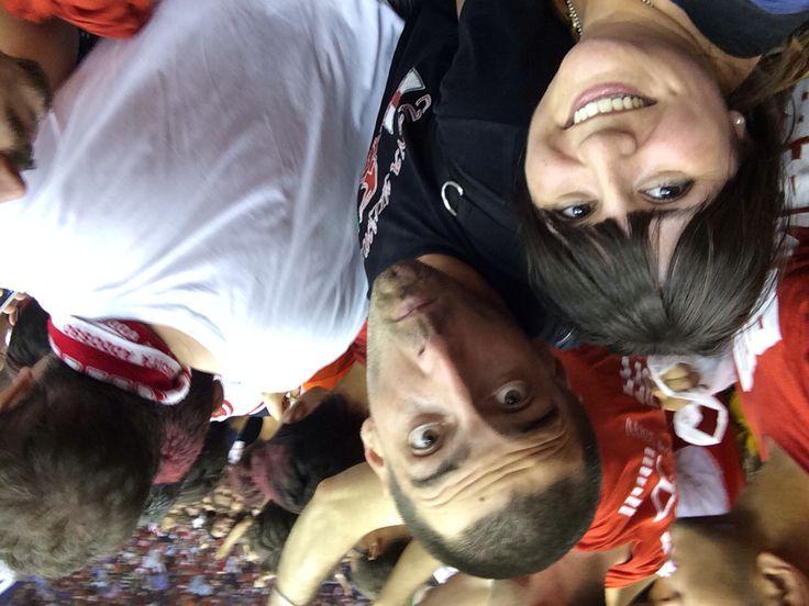 Selfie della vittoria!! Invasione di campo!