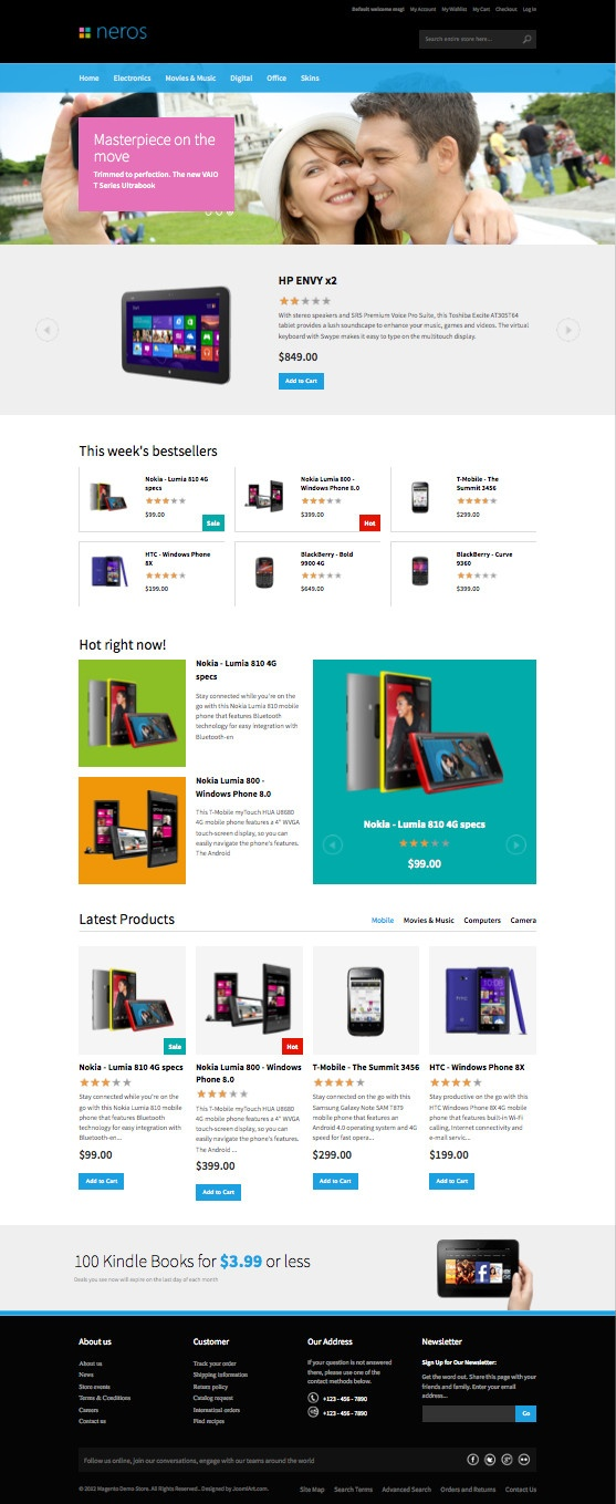 JM Neros Responsive Magento Theme for Christmas Sale!!!