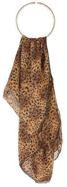 Cheetah Print Soft-feel Scarf