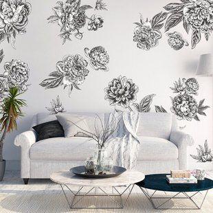 vintage floral wall decals urban walls - 640×640