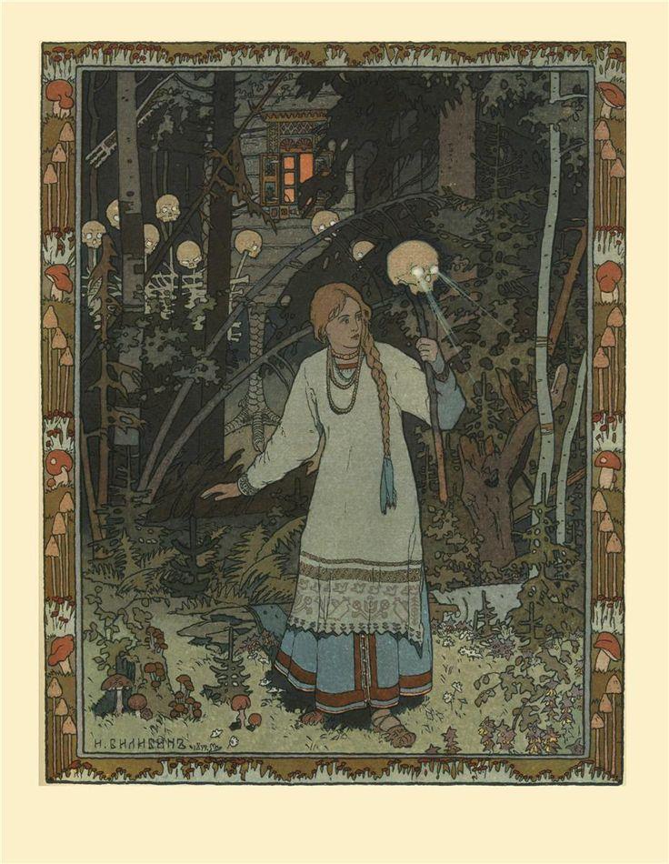 Ivan Bilibin - Illustration for the fairy tale of Vasilisa the Beautiful, 1900. WikiPaintings.org