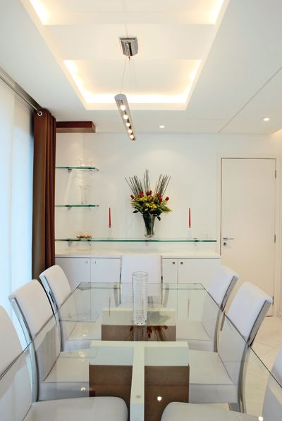 Mesa de vidro para sala de jantar mais 400 598 - Mesas de comedor modernas ...
