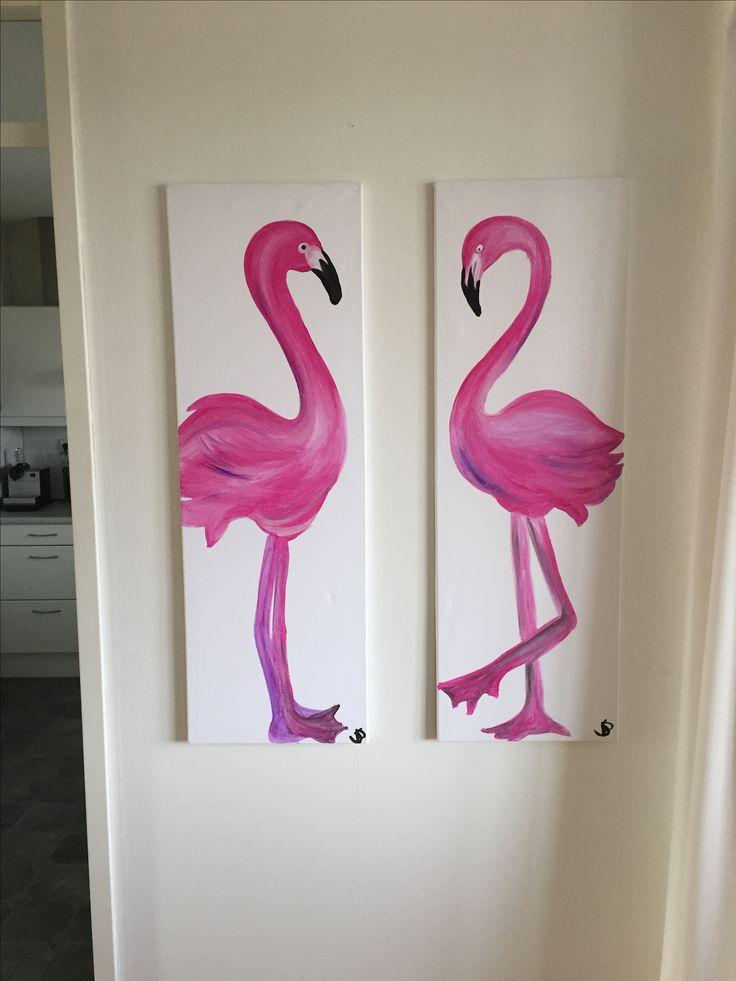 Flamingo 2-luik 120-40 cm per doek