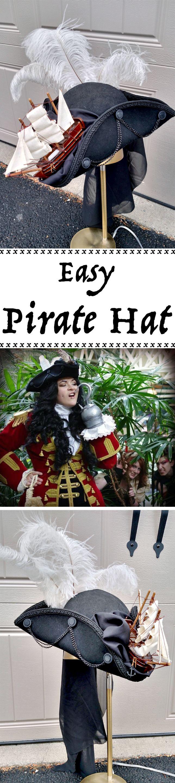 A beautiful pirate tricorn hat.
