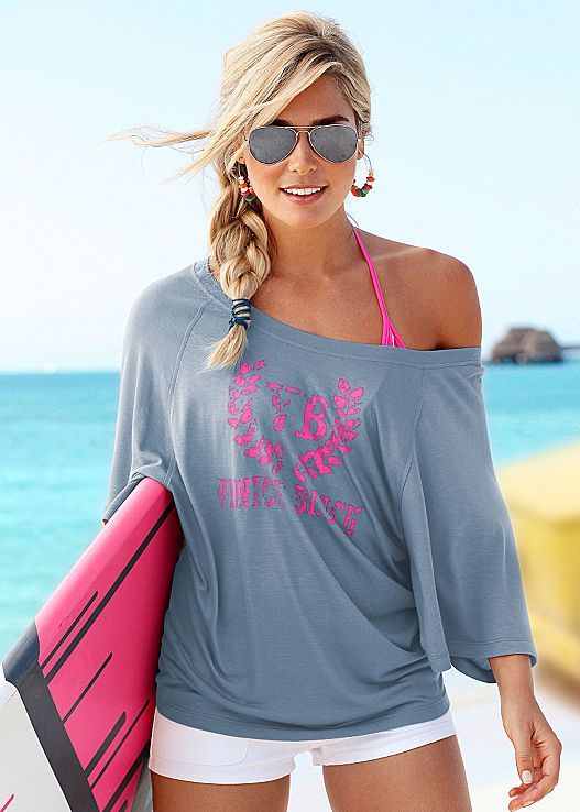 Ease into the season with a comfy top! Venus oversized beach top.