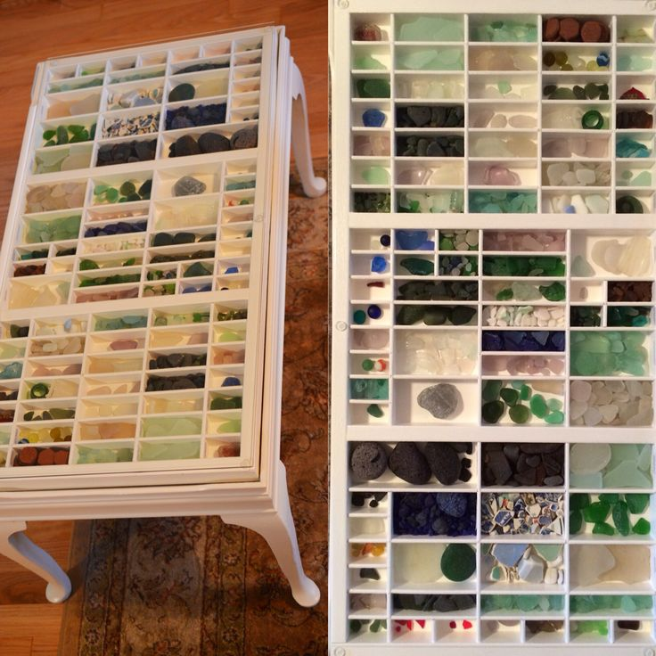 Great way to display your best seaglass finds!!